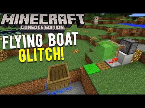 Minecraft Console: Flying Boat Slime Block Glitch! | Quick Transportation Glitch