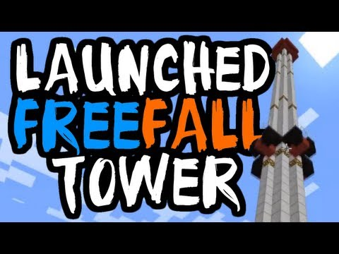 Minecraft: How to Build a Drop Tower Ride with UgoCraft [Easy-Medium]