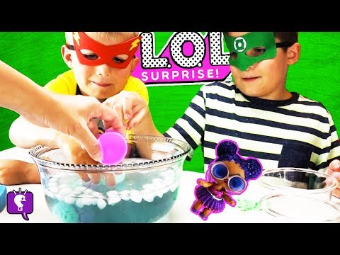 LOL COLOR CHANGE FIZZYS! Surprise Eggs with Hero HobbyKids