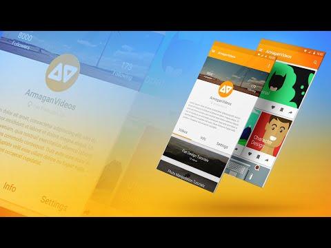Photoshop/Illustrator Tutorial: Google Material Design (App Design)