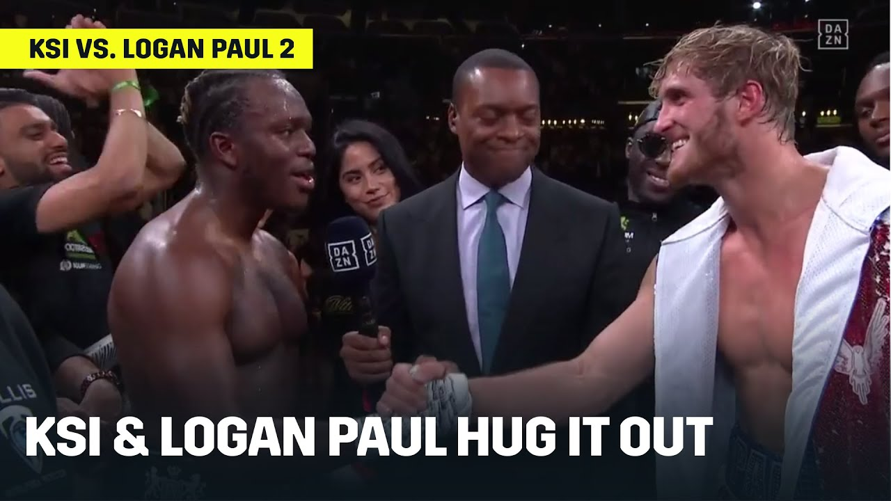 KSI & Logan Paul Hug It Out After Rematch