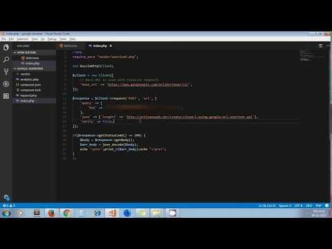 Create TinyURL Using Google URL Shortener API