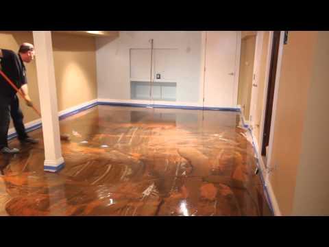 Designer Metallic Epoxy Floor Installation
