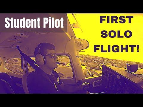 First Solo Flight | Student Pilot | HD GoPro | Cockpit & Radio/Com Audio