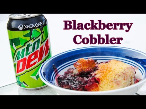 Easy Blackberrry Mountain Dew Cobbler in the Dutch Oven