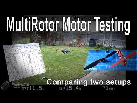 Multirotor motor/prop selection - practical testing and review