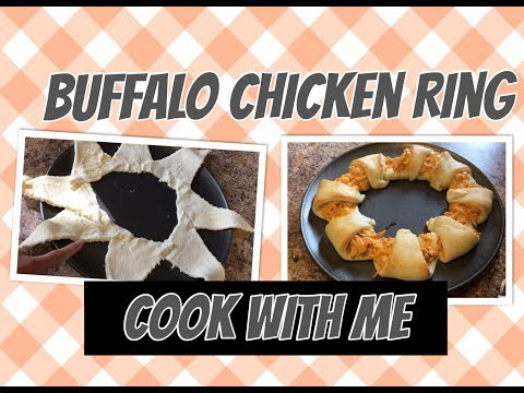 Buffalo Chicken Cresent Roll Ring| Buffalo Chicken Recipe| Cook With Me| Frugal Dinner