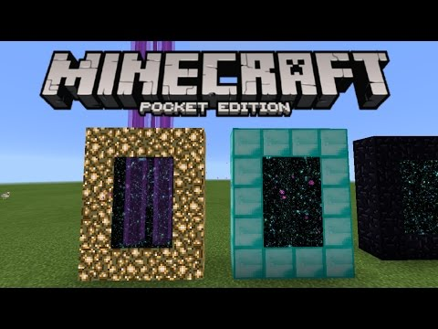 Minecraft PE - How To Make Custom End Portals/Ender Portals!