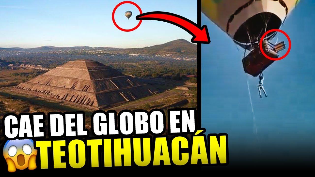 Teotihuacán, turista cae de un globo. Nunca imaginó que su paseo a las pirámides terminara así.