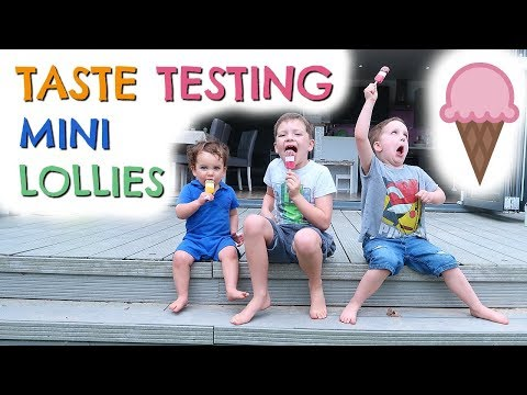TASTE TESTING SMARTIES & FAB MINI LOLLIES WITH CHANNEL MUM AD
