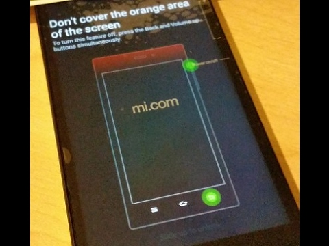 How to get rid of MI 3W Error Msg : Don't Cover the Orange area of the Screen