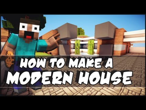 Minecraft: How To Make a Small Modern House