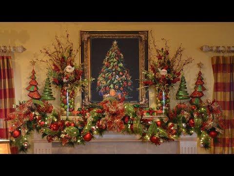 2017 Christmas Mantel Decorations Garland 2