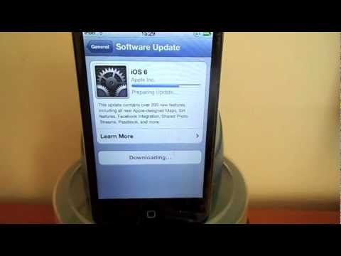 How to upgrade to iOS 6 your iPhone 4 / iPhone 4S / iPod touch 4th G over the Wi Fi