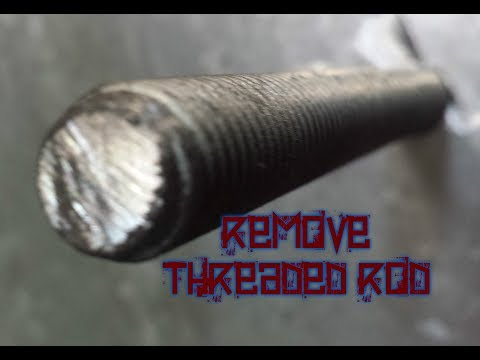 How to remove threaded rod