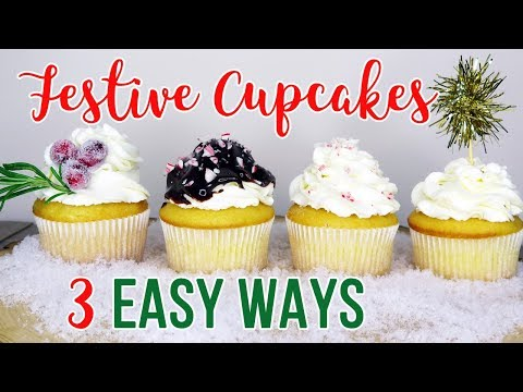 How To Make Christmas Cupcakes 3 Easy Ways