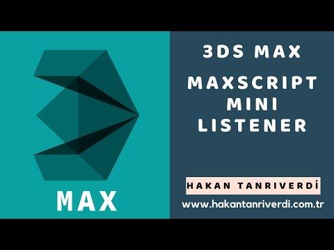 3DS MAX MAXSCRIPT MINI LISTENER - PakVim net HD Vdieos Portal