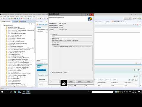SAP BW Open ODS View on a Remote Source in 3 minutes