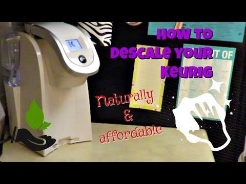 HOW TO DESCALE A KEURIG WITH VINEGAR & REPLACE THE FILTER