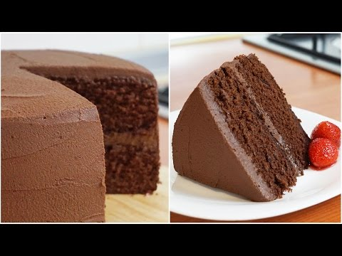 Rich and Moist Chocolate Cake Recipe