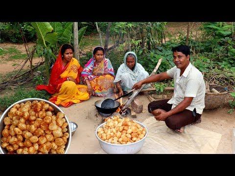 Golgappa Recipe | Pani Puri Recipe | How To Make Village Style Fuchka at Home