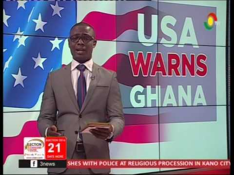USA & UK call for peaceful electoral process -15/11/2016