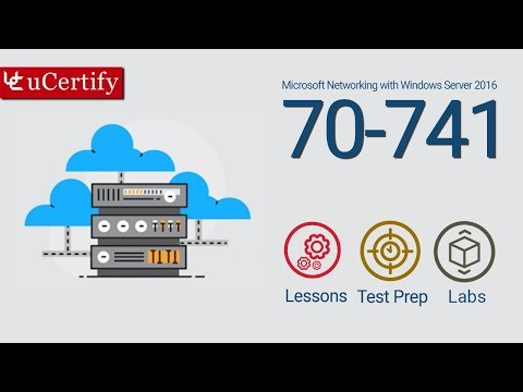 MCSA 70-741 Cert Guide: Networking with Windows Server 2016 (Course & Lab)