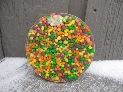 Nerds Candy Resin Coaster Craft Tutorial