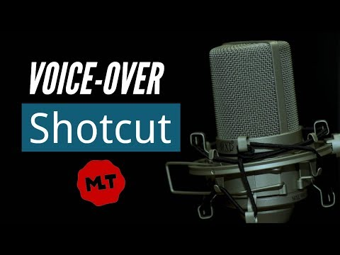 How to Record a Voice-Over in Shotcut