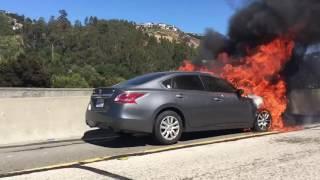 Car fire 580 east