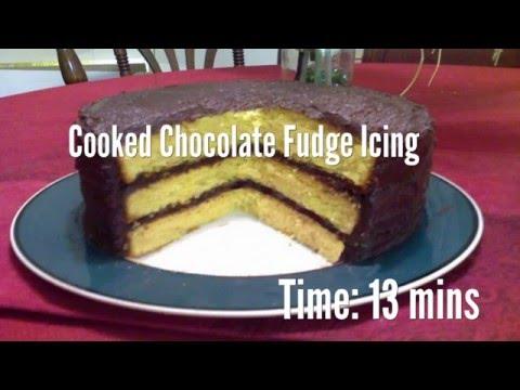 Cooked Chocolate Fudge Icing Recipe