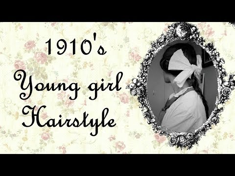 1910's Young Girl Inspired Hairstyle For Long Hair