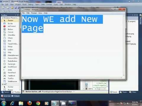 Windows Phone 7 Session Sms ,Email,Photo Browser,Call and Calatulator Code PART 1.flv