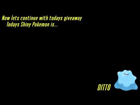 [Closed] Shiny Ditto Giveaway / Shiny Bulbasaur Winner Pokemon X & Y
