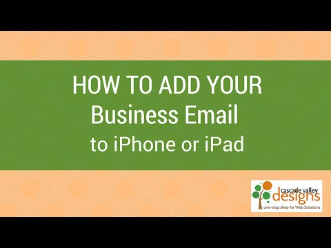 Set up Business or Domain Email on iPhone or iPad