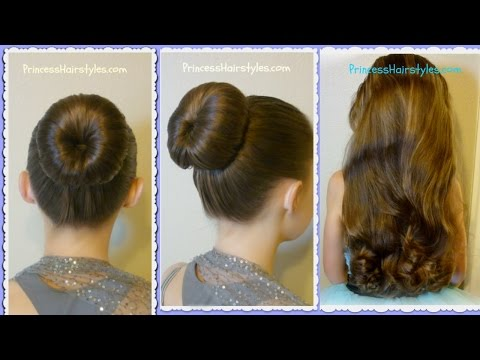 The Perfect Bun and No-Heat Curls, Dance Hairstyle Tutorial, Review