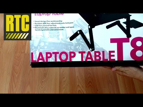 Laptop Table T8 - Portable Laptop Stand for Bed with Cooling Fans