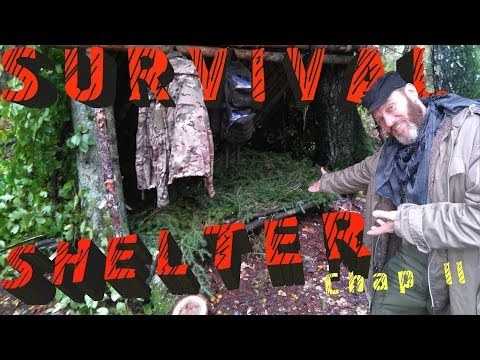 ✔️ Natural Survival Shelter for overnight stay in the Russian Woods. Chapter 2 of 2.