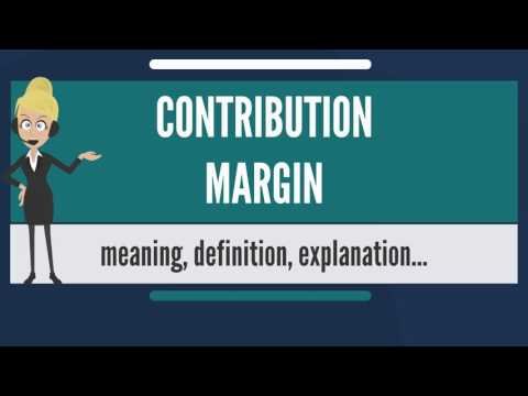What is CONTRIBUTION MARGIN? What does CONTRIBUTION MARGIN mean? CONTRIBUTION MARGIN meaning