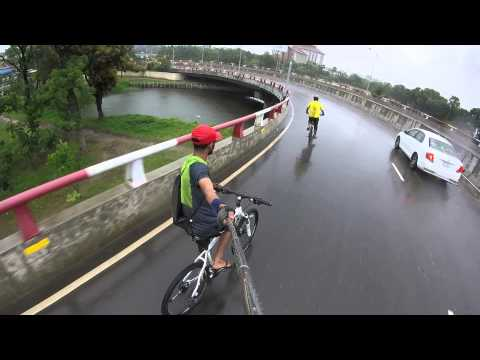 Crazy Cycle Ride In Rain