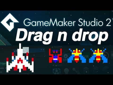Game maker studio 2 : drag and drop tutorial  - spaceship (DnD) - no coding