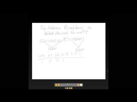 IP Address from Binary to Dotted Decimal Format 4 of 6