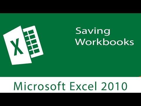 Excel: Saving Workbooks   Save ,Save As and Save as Type