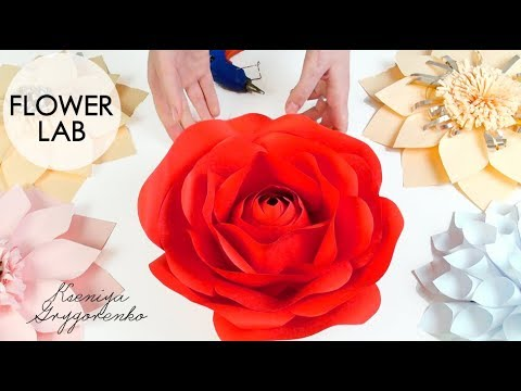 Diy Rose Tutorial (Giant Paper Rose) How to Make Paper Flowers