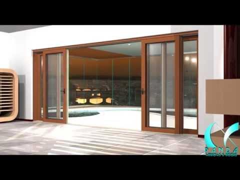 Panda S.65 Aluminum Wood Clad Multi Slide Door System