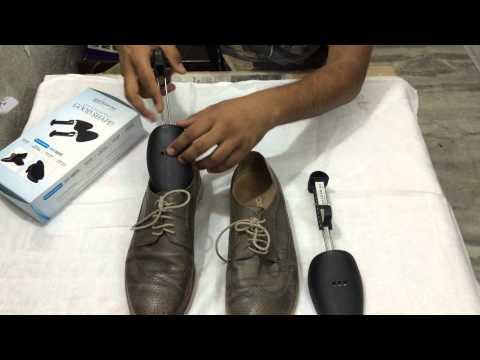 How to use adjustable plastiic shoe shaper or shoe trees