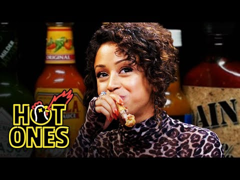 Xxx Mp4 Liza Koshy Meets Her Future Self While Eating Spicy Wings Hot Ones 3gp Sex