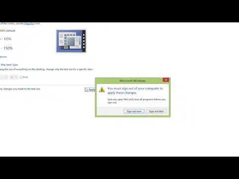 Windows 8 Desktop - How to Change the Size of Text and Icons