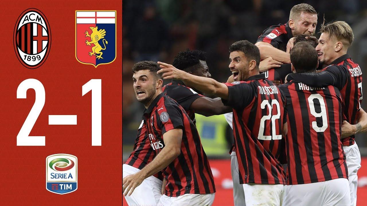 Highlights AC Milan 2-1 Genoa - Rescheduled Matchday 1 Serie A 2018/2019