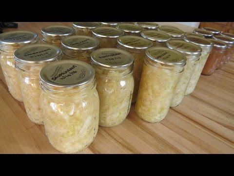 Making a Small Batch of Sauerkraut Part2 Canning